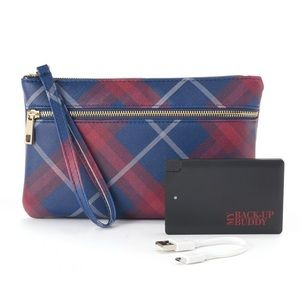 BRAND NEW portable charger wristlet
